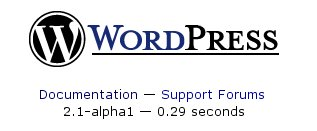 WordPress 2.1-alpha1